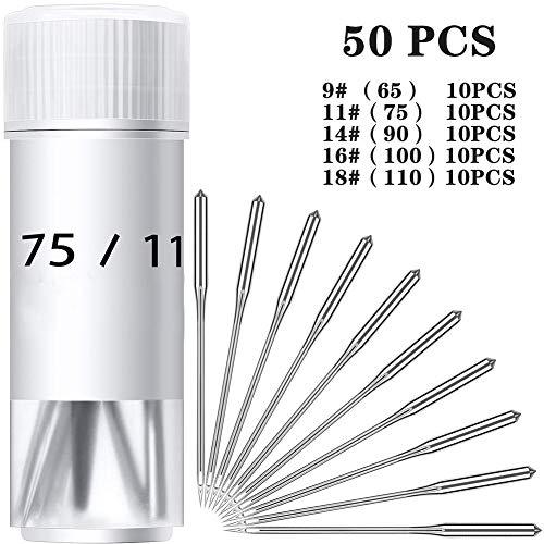 Sale!! TGX 50pcs Darning Machine Needles Stainless Steel Multi-Size Blind Needle Popular Side Openin...