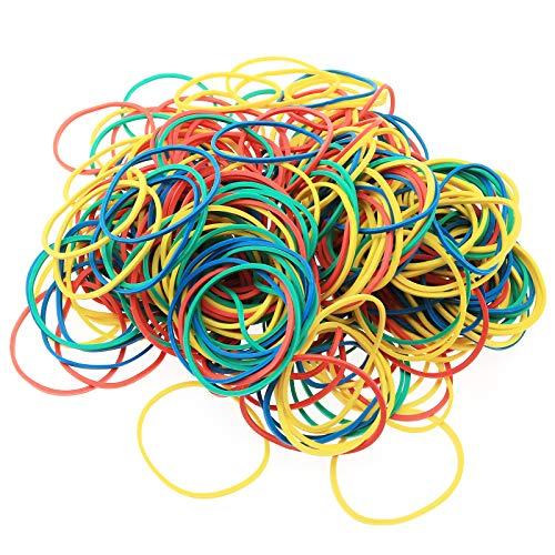 Lind Kitchen 300PCS Multi Color Rubber Bands 38X1.5mm O-Ring Elastics Bands Sturdy Rubber Bands
