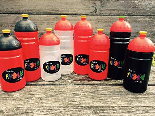 ISYbe (ehemals ISIfeel) Trinkflasche, schadstofffrei, spülmaschinengeeignet, auslaufsicher auch bei Sprudel, 500 ml, Marienkäfer 500 ml Blau, (zufälligen design)