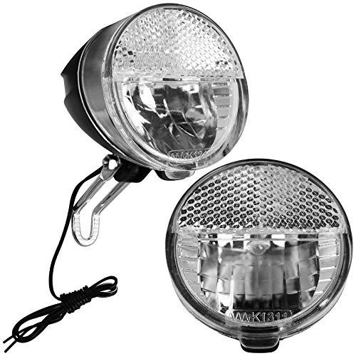 TW24 Fahrrad Dynamo Frontleuchte mit StVZO-Zulassung Frontlicht Fahrradlicht vorne Fahrradbeleuchtung Vorderlicht