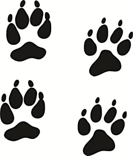 Coyote Animal Paw Print Picture Art Design – Home Living Room Bedroom - Peel & Stick Sticker - Vinyl Wall Decal – Size : 16 Inches X 316 Inches - 22 Colors Available