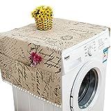 Waschmaschinenbezug Waschmaschinendeckel, 30 * 90 cm/55 * 130 cm Hause Tuch Staubdicht Abdeckung Multifunktionale Staub Abdeckungen mit Tasche Kühlschrank Waschen Maschine Mikrowelle