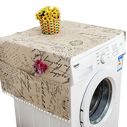 Macabolo Wasserdichte Kühlschränke Staubdichte Abdeckung Waschmaschine Top Abdeckung mit Aufbewahrungstaschen 55 * 130cm/21.65 * 51.18inch Assorted Color