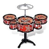 Batería para Niños Niños Jazz Drums Boys Educación temprana Juguetes educativos Ejercicio Coordinación Habilidad práctica Habilidad Musical Instrumento de tambor Conjuntos para Niños Educación Tempran