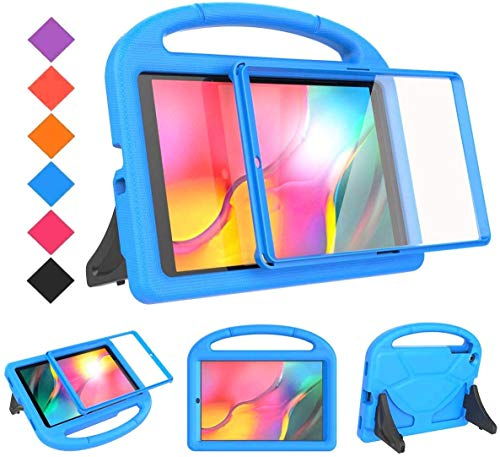 BMOUO Kids Case for Samsung Galaxy Tab A 10.1 (2019) SM-T510/T515 - Built-in Screen Protector, Shockproof Light Weight Handle Friendly Kids Case for Galaxy Tab A 10.1 inch 2019 Release - Blue