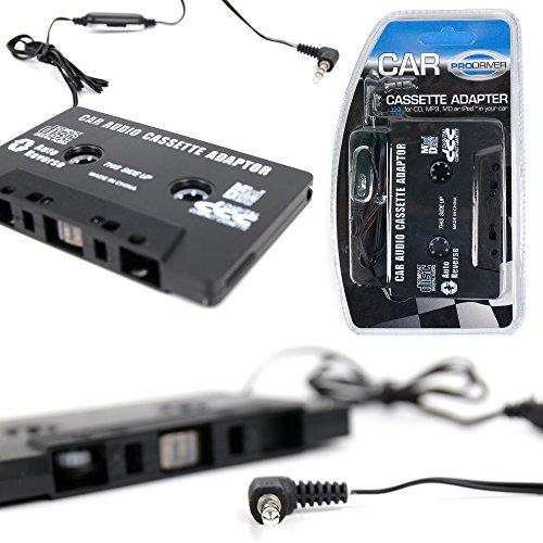 DURAGADGET Adaptateur Cassette pour autoradio Compatible avec téléphone Portable, Tablette et MP3 – Garantie 2 Ans - Compatible iPhone, Wiko, Samsung, Sony, Archos et Autres