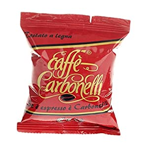 Caffè Carbonelli 100 Capsule Monodose, Miscela Forte - 1 Scatola