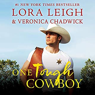 One Tough Cowboy     A Novel (Moving Violations, Book 1)              By:                                                                                                                                 Lora Leigh,                                                                                        Veronica Chadwick                               Narrated by:                                                                                                                                 Savannah Richards                      Length: 7 hrs and 45 mins     19 ratings     Overall 4.6