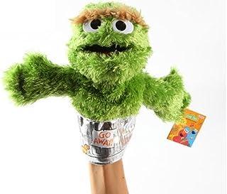 """Sesame Street Oscar Grouch Plush Puppet 9"""""""