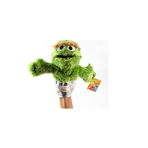 bff2b104271 Sesame Street Oscar Grouch Plush Puppet 9