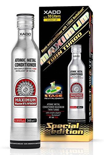 XADO 1 Stage Maximum Twin Turbo, protección para el motor, regenera, contra el desgaste, aditivo para aceite con Revitalizant (360ml)