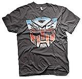 Transformers - Camiseta - Manga corta - para hombre gris gris oscuro 8 años
