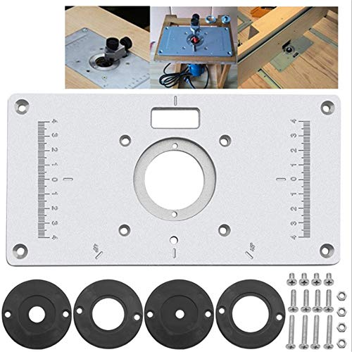 Aluminum Trim Panel Router Table Insert Plate For Woodworking Benches, with 4 Rings Screws