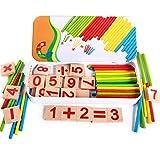 Ruikey Jouet de Calcul Mathematique bebe Montessori Material Counting Jouets mathématiques pour enfants