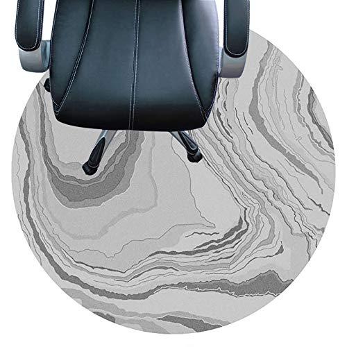 cojín de la silla redonda Tapete Para Silla De Computadora, Tapete Para Silla De Oficina, Adecuado Para Pisos De Madera, Silla Deslizante Fácil, Plano Sin Rizo, Tapete Para E(Size:100cm(39in),Color:B)