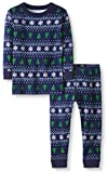 Moon and Back 2 Piece Long Sleeve Set Infant-and-Toddler-Pajama-Sets, Isla Feria de Invierno, 5 años (107-117 CM)
