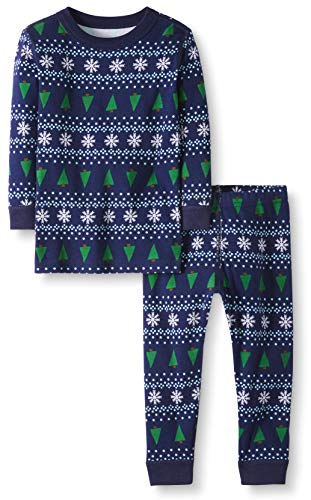 Moon and Back by Hanna Andersson Toddler Kids 2 Piece Long Sleeve Pajama Set, Winter Fair Isle, 3T
