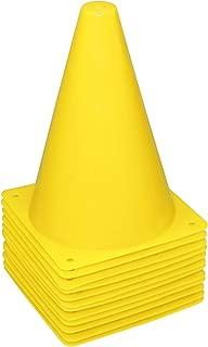 REEHUT 7.5 Inch Plastic Sport Training Traffic Cone (Set of 12 or 24)- 4 Colors