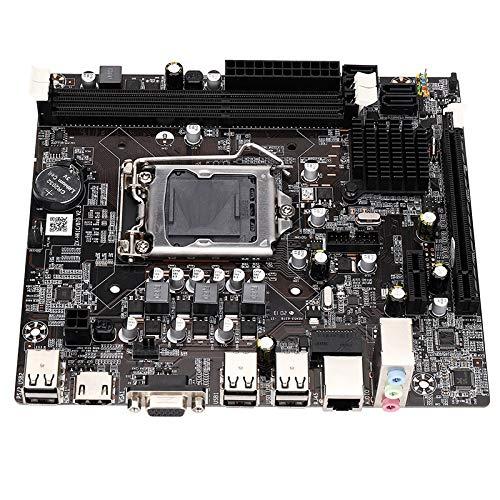 Kaxofang Placa Base H61 LGA1155 DDR3 de Doble Canal Compatible con Memoria 16G para LGA1155 Celeron Pentium I3 I5 I7
