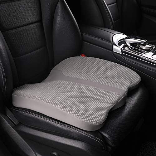 LARROUS Car Memory Foam Heightening Seat Cushion,Tailbone...