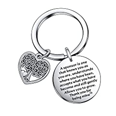 This Boss Sponsor Appreciation keychain Leader Gift made of stainless steel,strong and durable.Excellent craftsmanship with advisable size and right weight.Safe for sensitive skin. Thank You Appreciation gift for Boss Leader Coworker Gift - A sponsor...