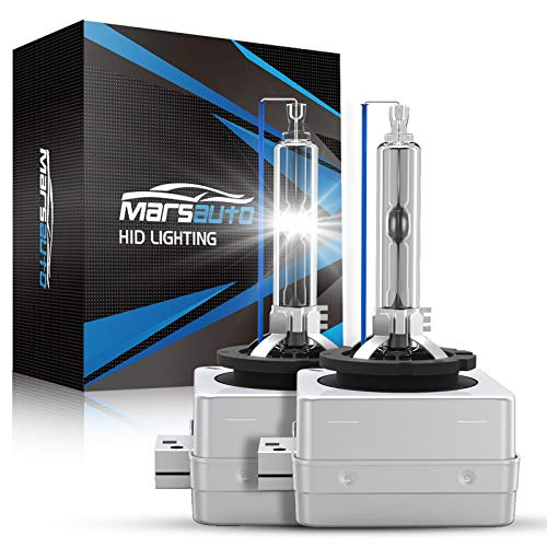 Marsauto D1S HID Bulb 6000K 35W Xenon HID Replacement Bulb Diamond White with a Pair of Gloves for 12V Cars High Low Beam 2Pack