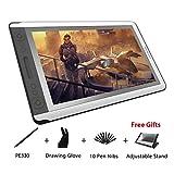 Huion Kamvas GT-156HD V2 Delgado Monitor de Tableta Gráfica Digital de Dibujo Pantalla de Lápiz con Cable 3 en 1...