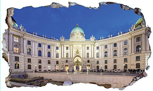 Chicbanners Viena V103 - Adhesivo decorativo para pared, diseño de la escuela de equitación española de Viena, tamaño 1000 mm de ancho x 600 mm de profundidad (tamaño grande)