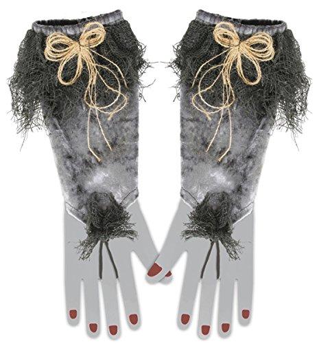 FASCHING 56405 Hexen-Handschuhe Hexe Halloween NEU/OVP