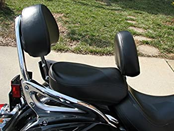 Grasshopper Limited Drivers Backrest for Kawasaki 1600 Nomad or Vulcan American Made NON STUDDED Complete System Quick Release