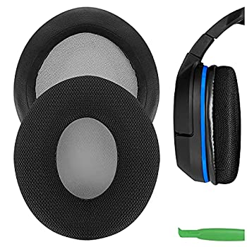 Geekria Comfort Mesh Fabric Replacement Ear Pads for Turtle Beach Ear Force P11 PX22 PX51 PX24 PX21 PX4 PX5 X41 X42 X12 Headphones Earpads Headset Ear Cushion Repair Parts  Black