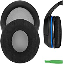 Geekria Comfort Mesh Fabric Replacement Ear Pads for Turtle Beach Ear Force P11, PX22, PX51, PX24, PX21, PX4, PX5, X41, X42, X12 Headphones Earpads, Headset Ear Cushion Repair Parts (Black)