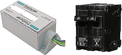 Siemens FS140 Whole House Surge Protection & Q220 20-Amp Double Pole Type QP Circuit Breaker