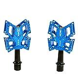 KCNC Knife Titanium Spindle Road Platform Pedals, Blue, KPED01-TI-BL, SK2175