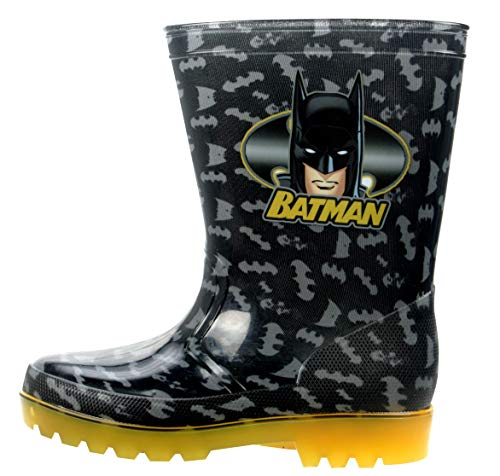 Childs Batman Black and Yellow Wellington Rain Boots (13)
