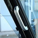 2pcs pour Defender 11090Chrome mat pour intérieur de voiture en alliage d'aluminium Poignée Trim Accessoires