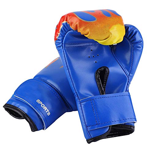 VGEBY1 Kinder Boxhandschuhe, PU Kinder Boxkampf Muay Thai Sparring Stanzen Boxen Kickboxen Grappling Sandsack Trainingshandschuhe für Kinder von 3-12 Jahre (Blau)