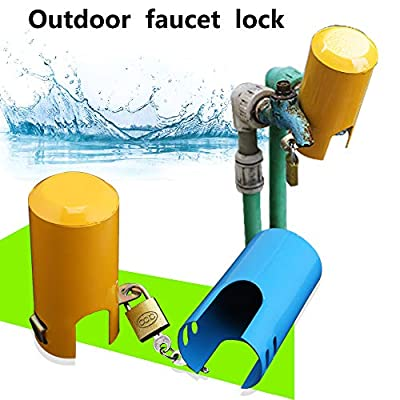 Chambridge Faucet Lock, Multi-Purpose Protective Cover for tap Faucet and Valve Outdoor,tap Lock Padlock Outdoor Faucet Locking Anti-Theft System (Style A - Small Opening?Yellow?)