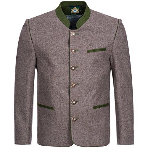 Hammerschmid Herren Trachten-Mode Trachtenjanker in Braun traditionell, Größe:54, Farbe:Braun
