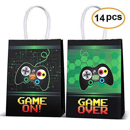 Video Game Party Supplies Favors,Gaming Party Bags For Video Game Birthday Party Supplies Decorations,kids Gamer Party Supplies Decorations Set Of 14