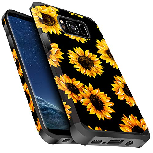 Miss Arts Galaxy S8 Case Shockproof, Slim Anti-Scratch Protective Kit with [Drop Protection] Heavy Duty Dual Layer Hybrid Sturdy Armor Cover Case for Samsung Galaxy S8 -Sunflower