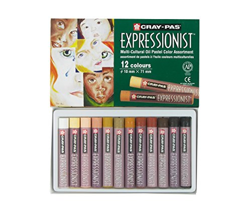 Sakura XLP12SA 12Piece CrayPas Expressionist Multi Cultural Oil Pastel Set