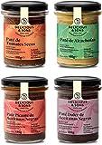 Pack Patés Mediterráneos - Ecológicos - Sin Transgénicos - Sin Gluten - Veganos - Con Aceite de Oliva Virgen Extra - 180g (Pack de 3)