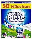 Weißer Riese Universal Pulver (50 Waschladungen), Vollwaschmittel extra stark gegen Flecken, ergiebiges Waschpulver, ideal für Familien mit Kindern