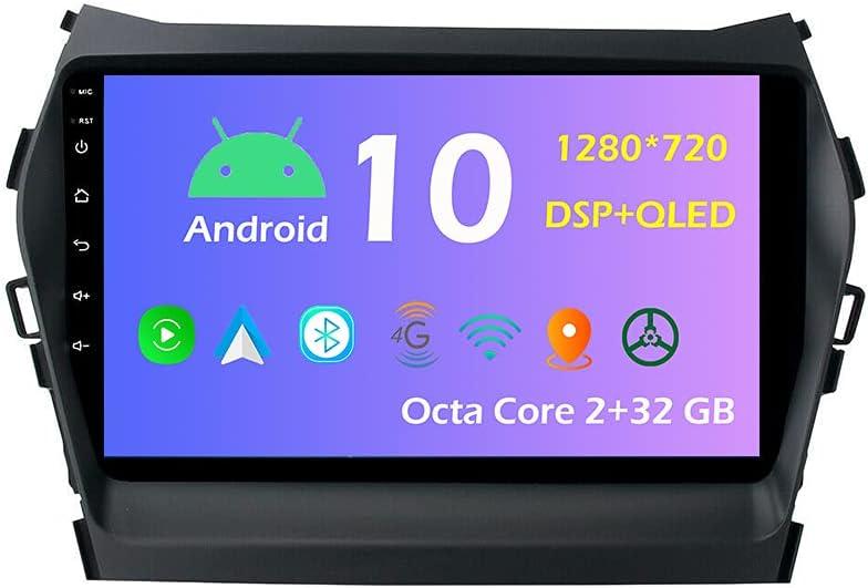 9'' Android 10.0 Rare Car Radio Stereo Fit Rapid rise IX45 for Hyundai 2013-2016