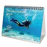 Calendario de mesa 2019, DIN A5, para buceo, peces y mar, diseño de peces
