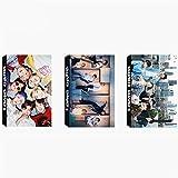 3 Pack / 90 Pcs Pcs BTS Lomo Card Kpop Bangtan Boys Photocards with Greeting Card Postcards Box