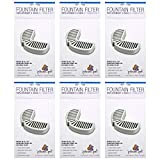 Pioneer Pet Replacement Filters for Ceramic & Stainless Steel Fountains, Raindrop Filters (18 Filters)