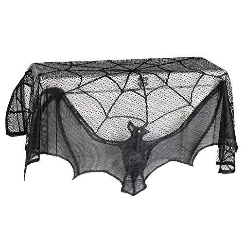 Tenda di Stoffa per caminetto di Pipistrello Nero a Doppio Uso di Halloween Addobbi e Decorazioni per ricorrenze Decorazioni per Halloween