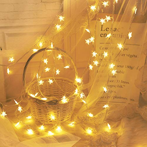 InBest LED String Lights, LED Fairy Lights, Copper Wire Fairy Lights, 50 LEDs Curtain Lights String Light for Holiday Party Wedding Centerpiece Bottle Decoration